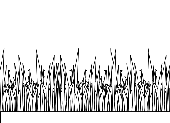 Grass Clipart Black And White.