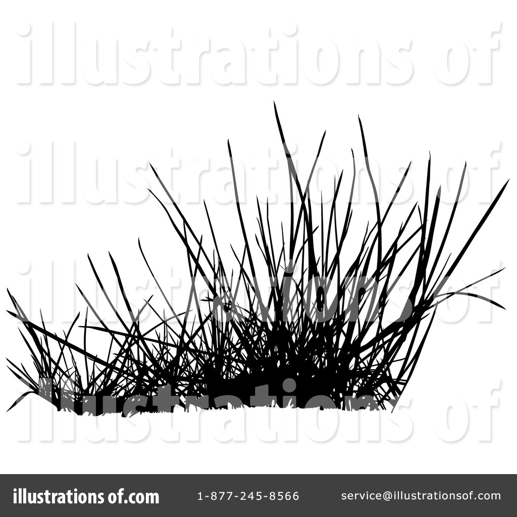 Cute Free Black And White Grass Clipart.