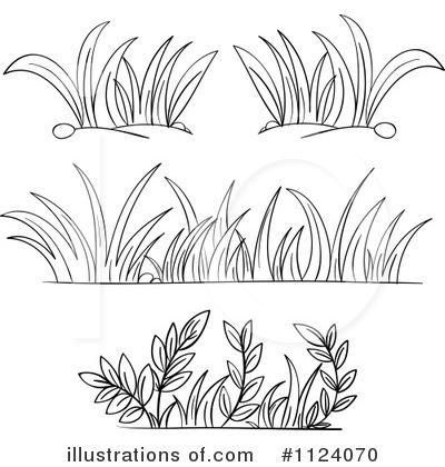 Black and white grass clipart.