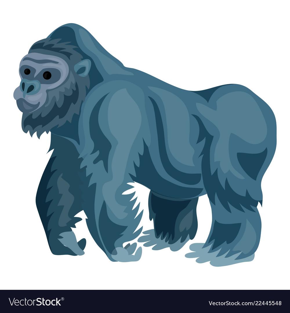 Gorilla icon cartoon style.