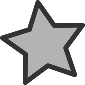Grey and white star clipart.