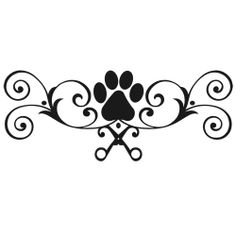 Love To Groom Dog Grooming SCISSORS STYLIST PET SALON DECAL.