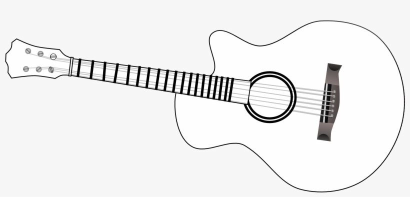 Guitar Outline Clip Art Black And White.