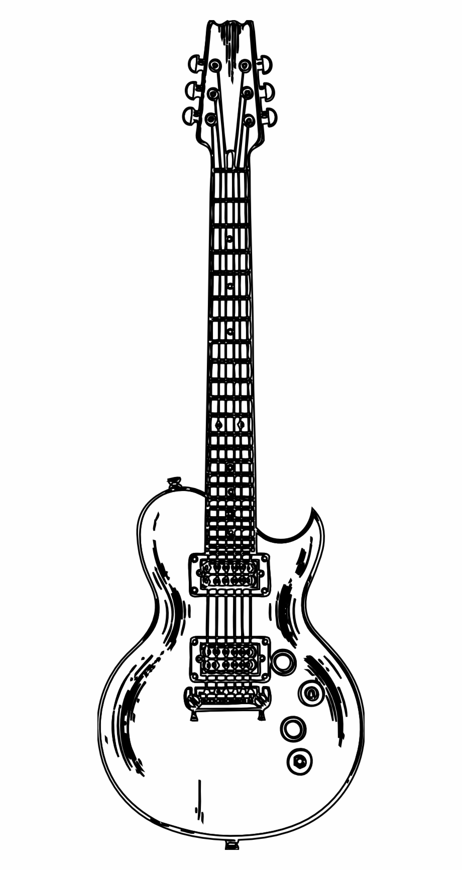 Free Black And White Guitar Clipart, Download Free Clip Art.