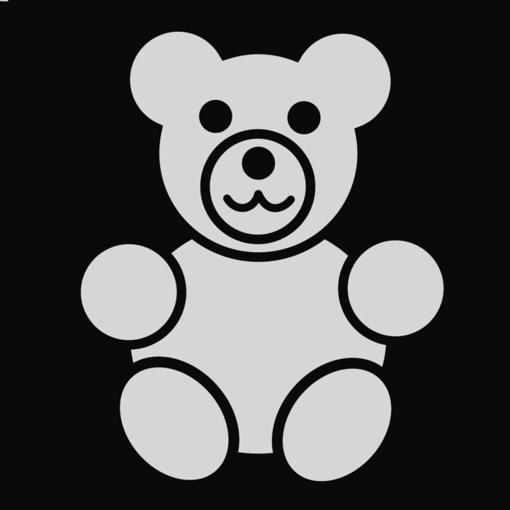 Bear Black And White Gummy Bear Black And White Clipart.