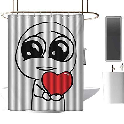 Amazon.com: Qenuan White Shower Curtain Humor,Cute Lover Guy.
