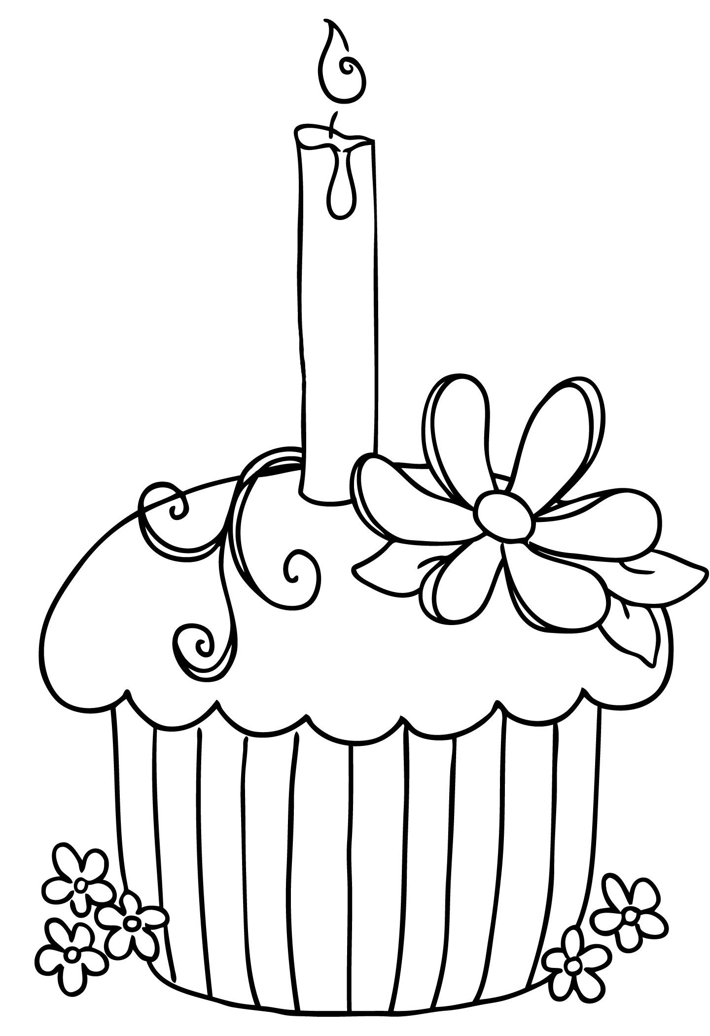 Happy birthday black and white happy birthday cake clipart.