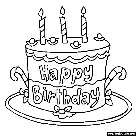 6535 Birthday Cake free clipart.