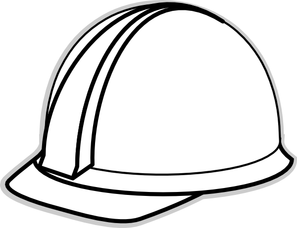 White Hard Hat Clip Art at Clker.com.