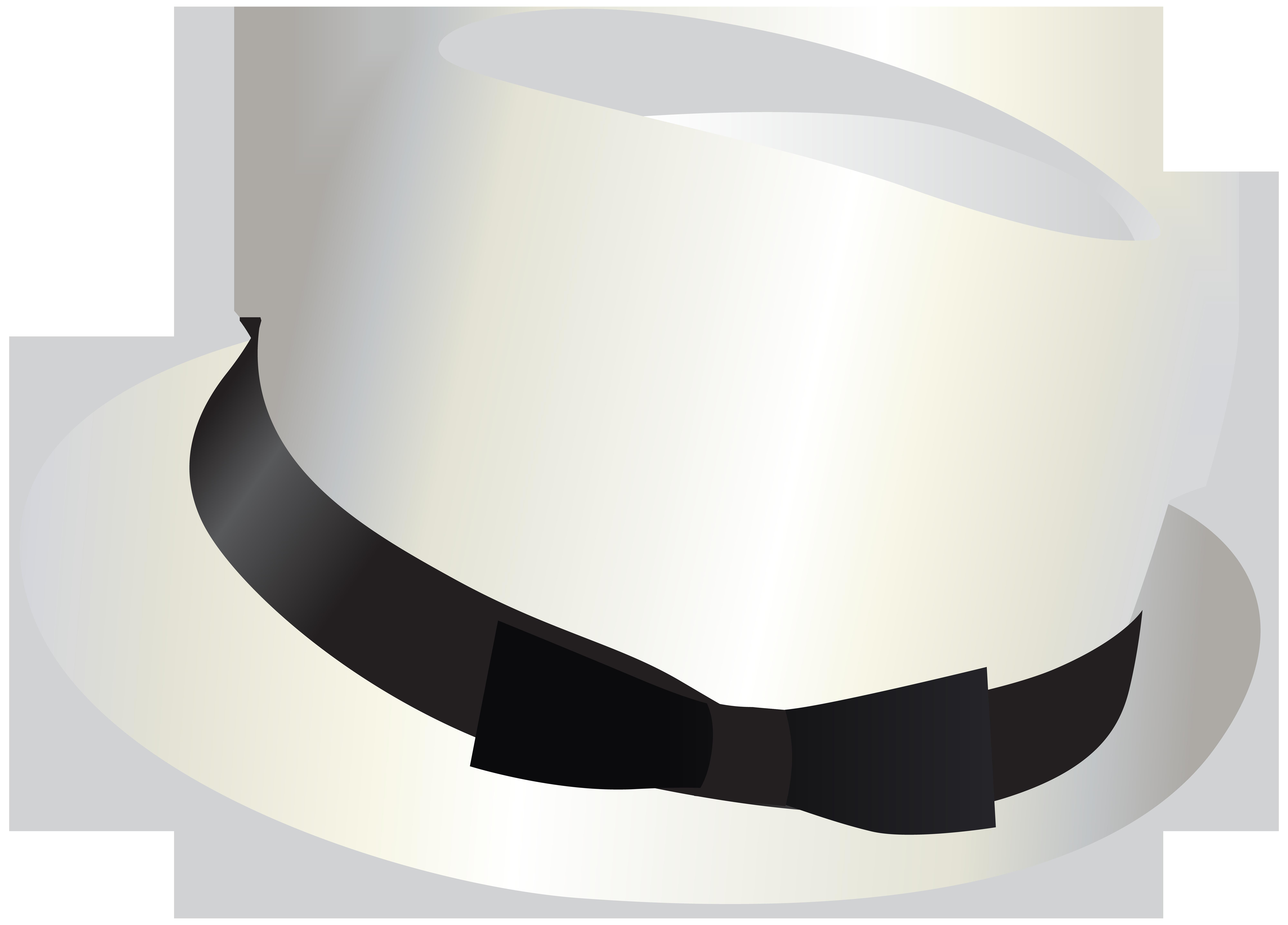 White Hat Transparent PNG Clip Art Image.