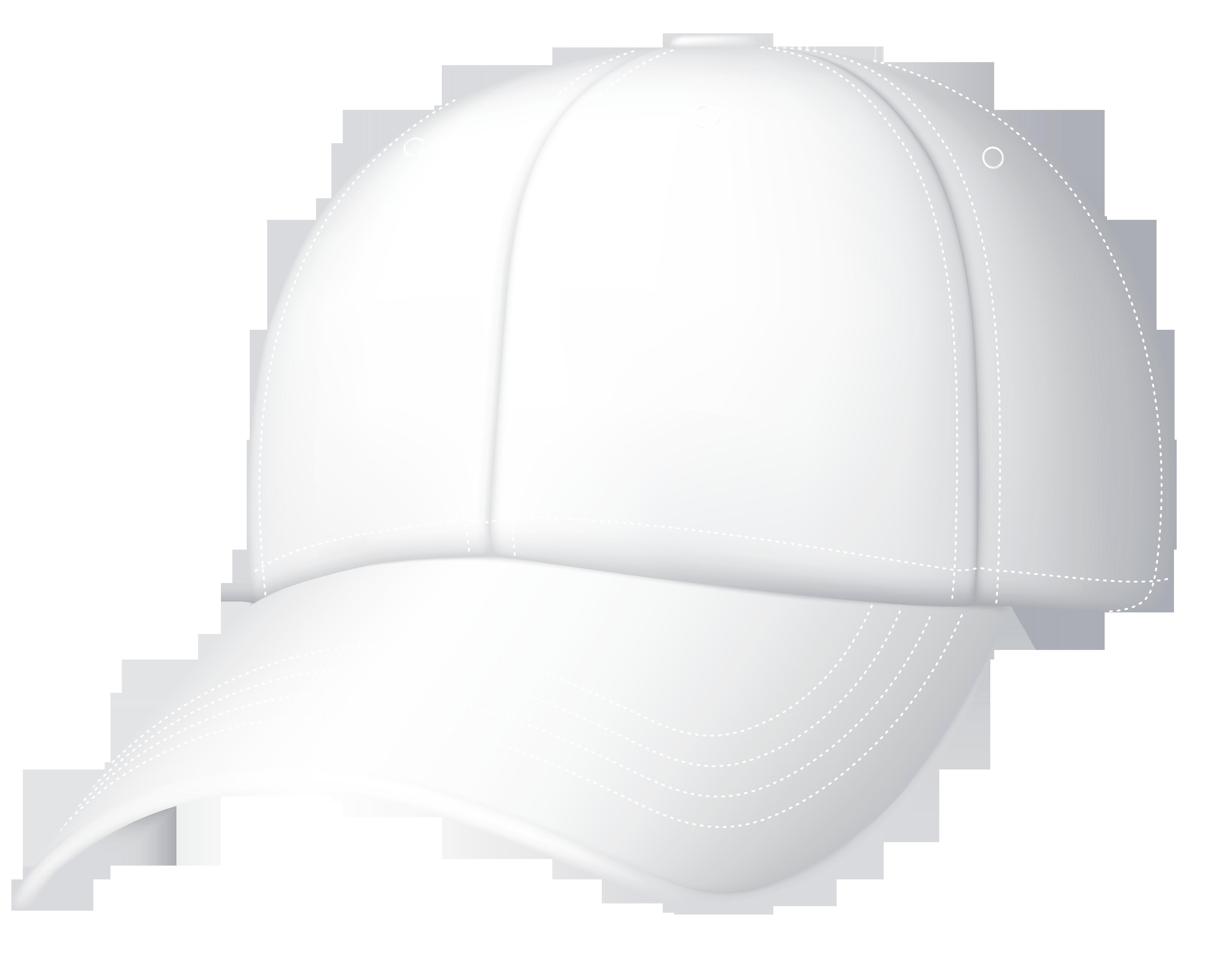 White Baseball Cap Clipart.