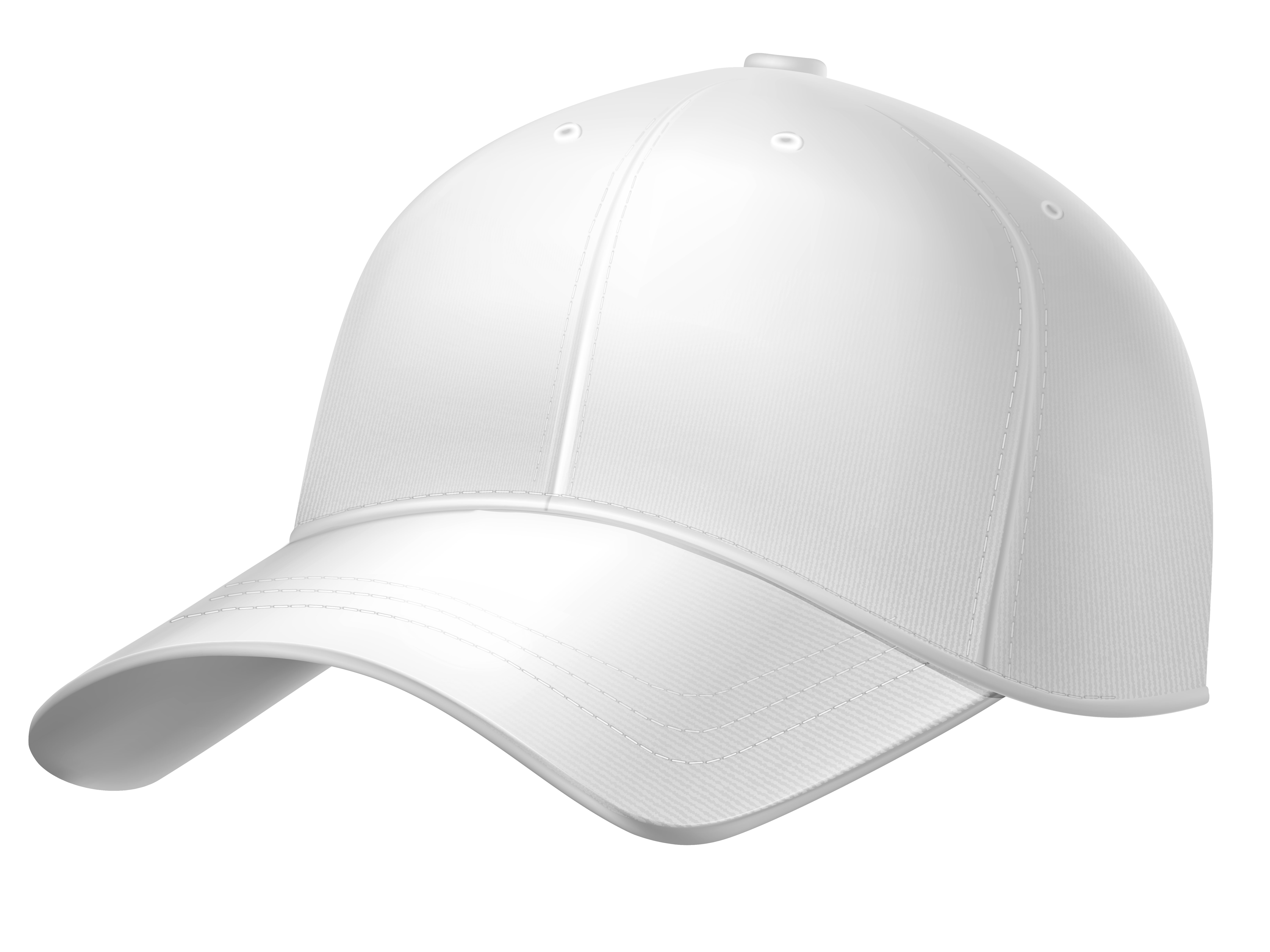 White Plain Baseball Cap PNG Clipart.