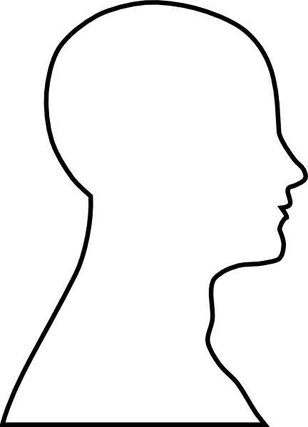 Head Shoulders Outline Clipart.