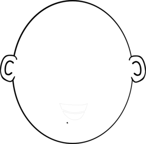 Black and white head clipart.