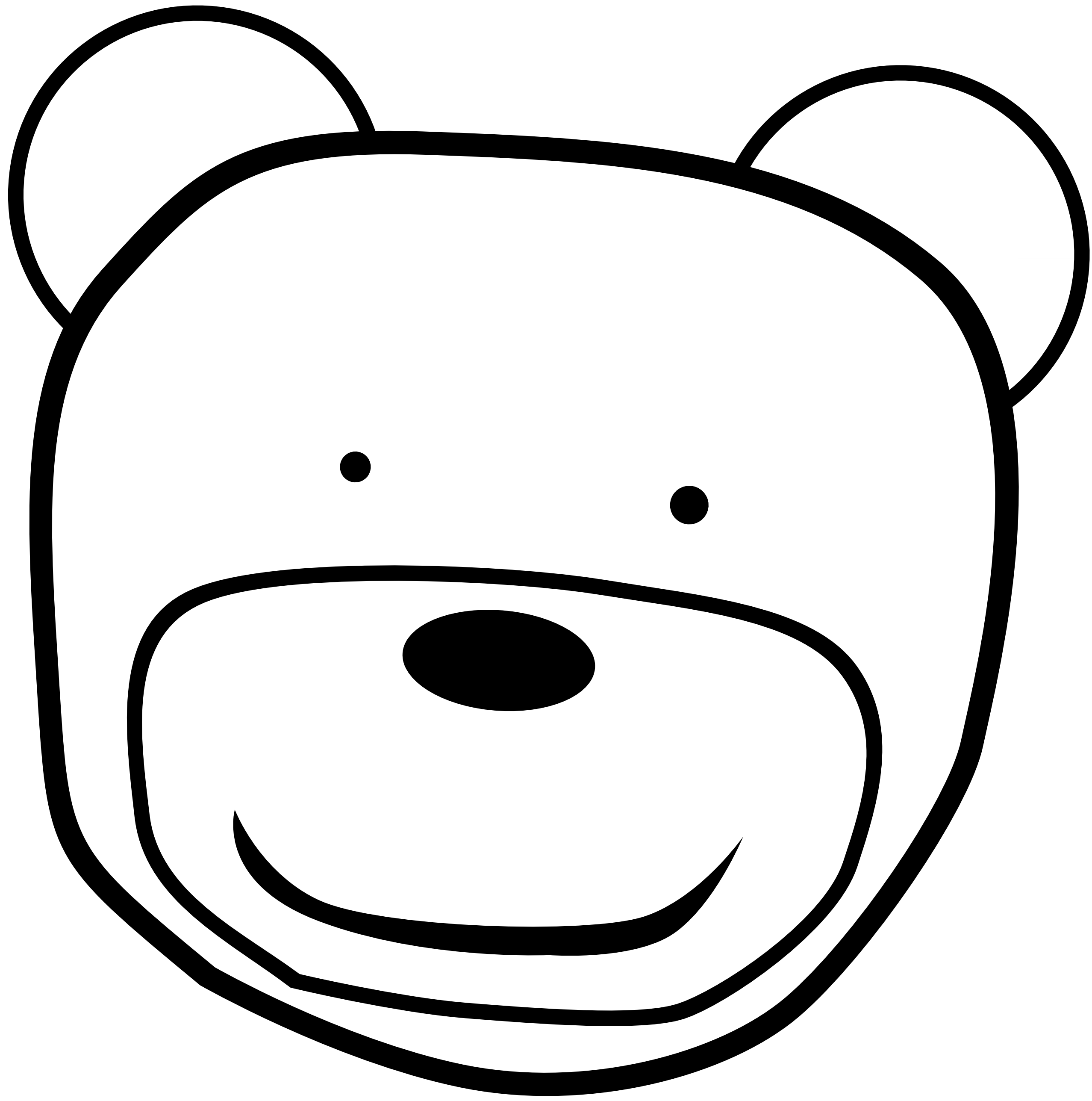 Black And White Bear Head Clipart.