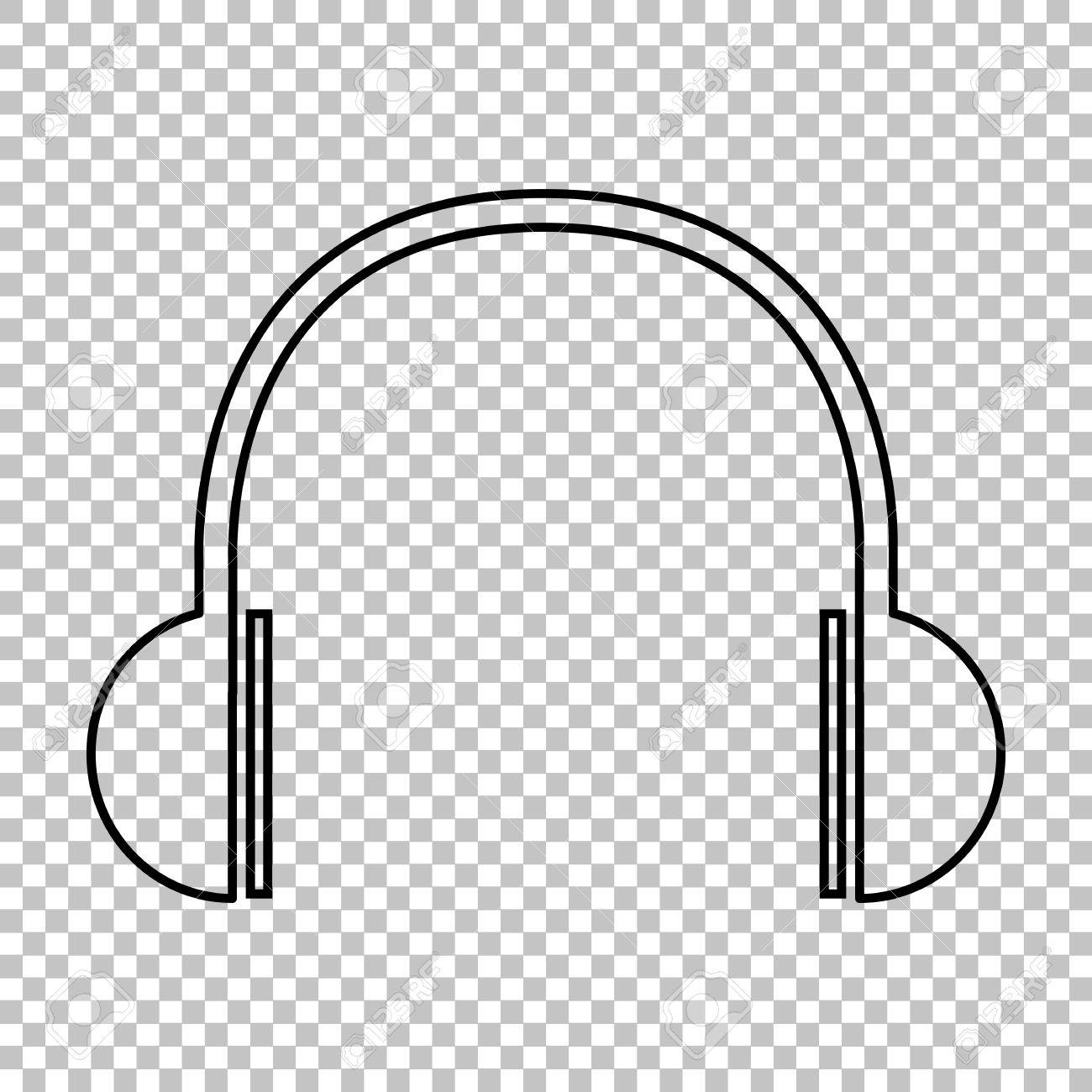 Headphones Clipart Transparent Background.