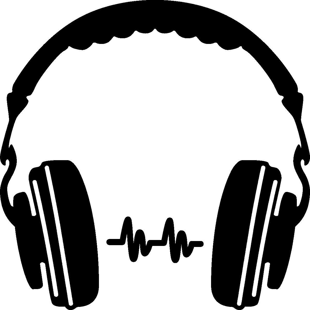 Headphones Silhouette Icon.