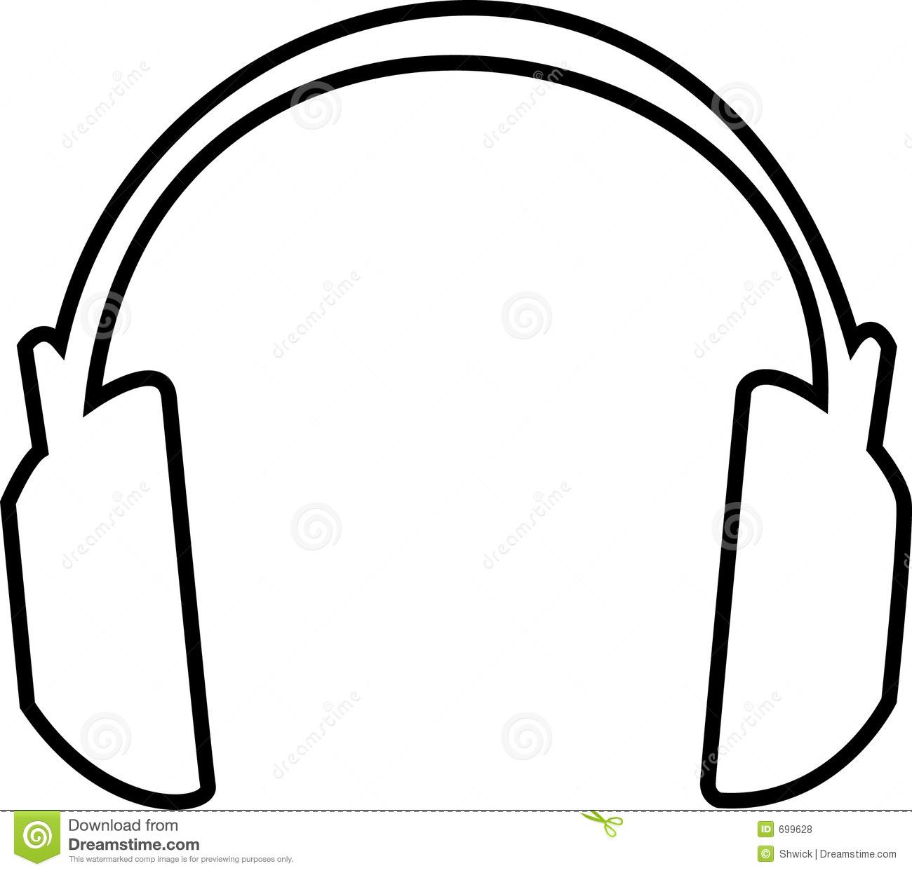 452 Headphone free clipart.