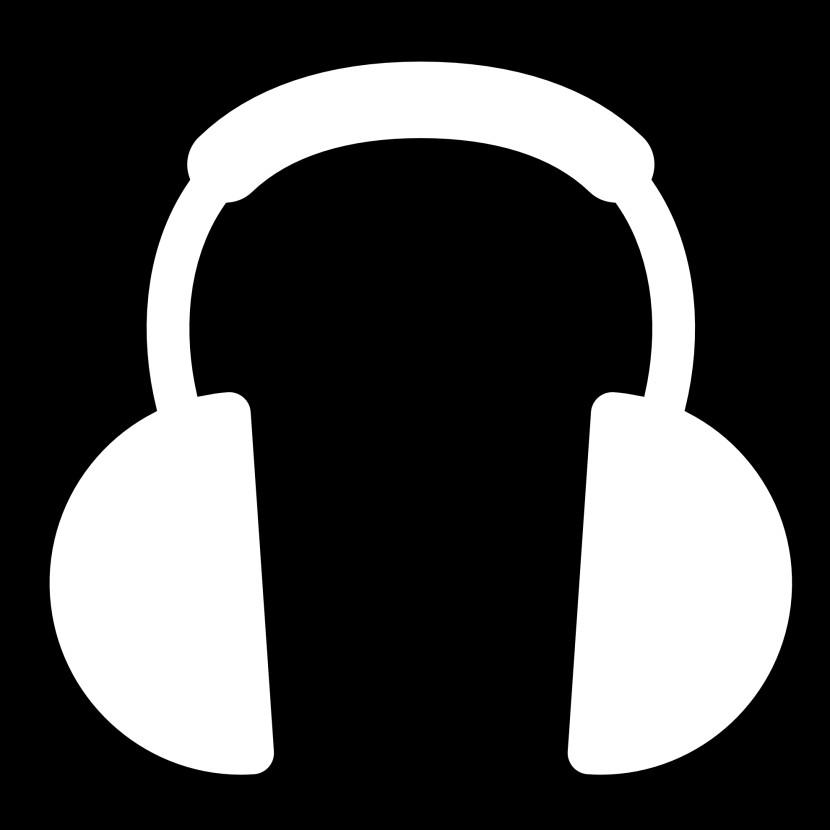 White Headphones Clipart.