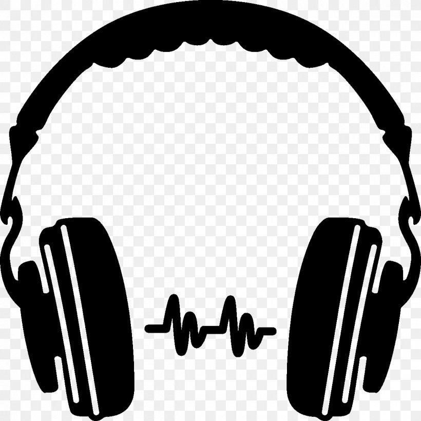 Headphones Silhouette Icon, PNG, 1200x1200px, Watercolor.