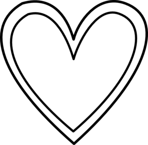 White heart clip art.