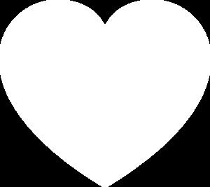 White Heart Clip Art at Clker.com.