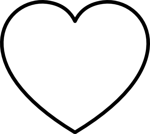 Free Black And White Clipart, Heart.