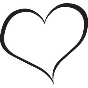 Free Black And White Heart Clipart.