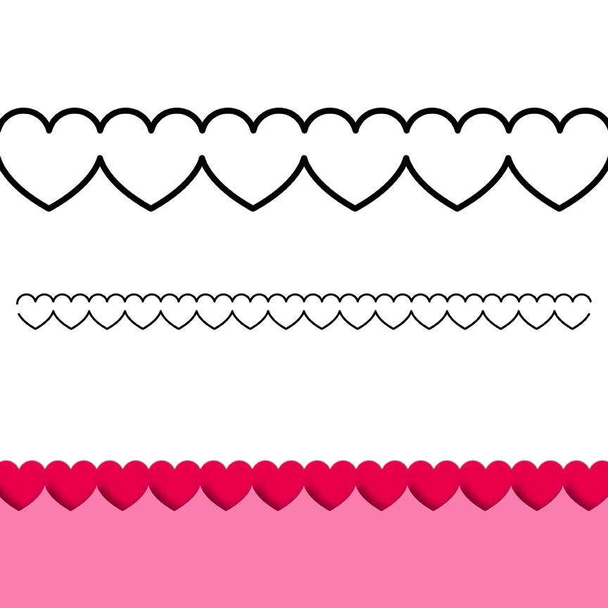 Free Black And White Heart Border, Download Free Clip Art.