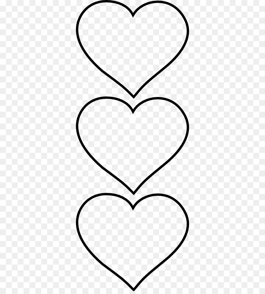 Black and white Heart Pattern.