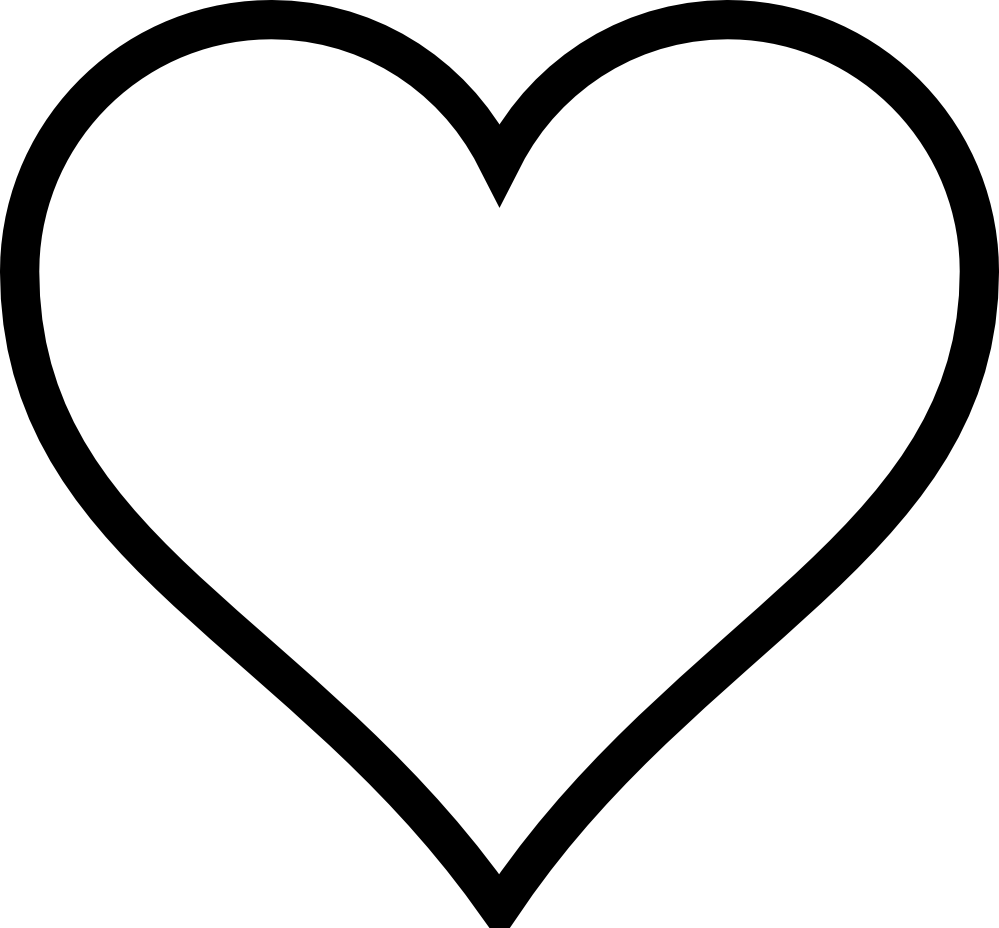 Heart Black and white Valentines Day Clip art.