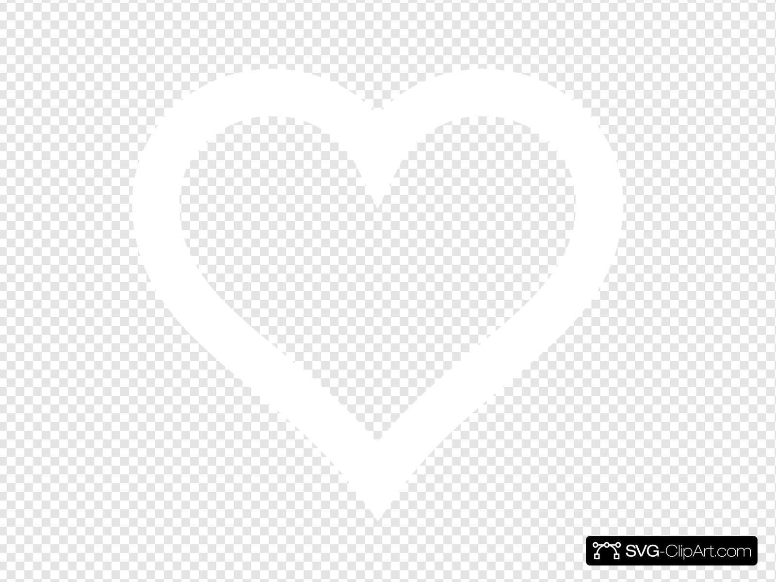 White Heart Outline Newer Clip art, Icon and SVG.