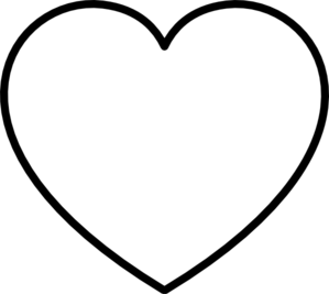 White Heart With Black Outline Clip Art at Clker.com.