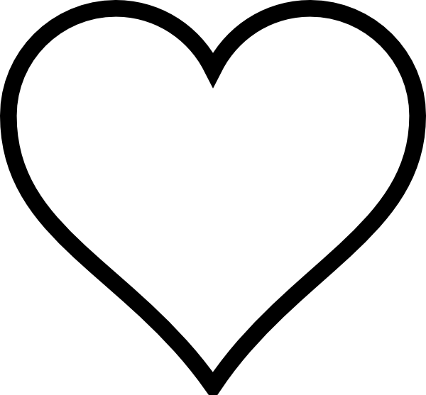 White Heart Clip Art at Clker.com.