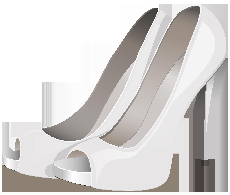 High Heels White PNG Clip Art.