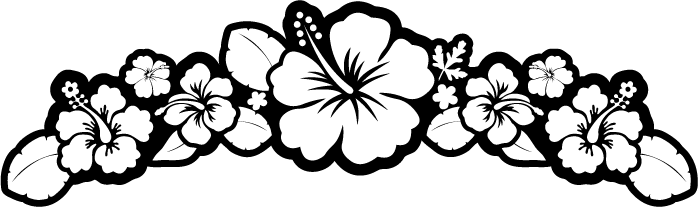 Hawaiian Flower Tattoos Black And White.