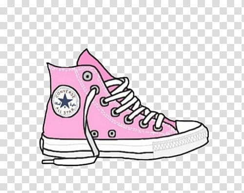 Overlays, pink and white Converse high.