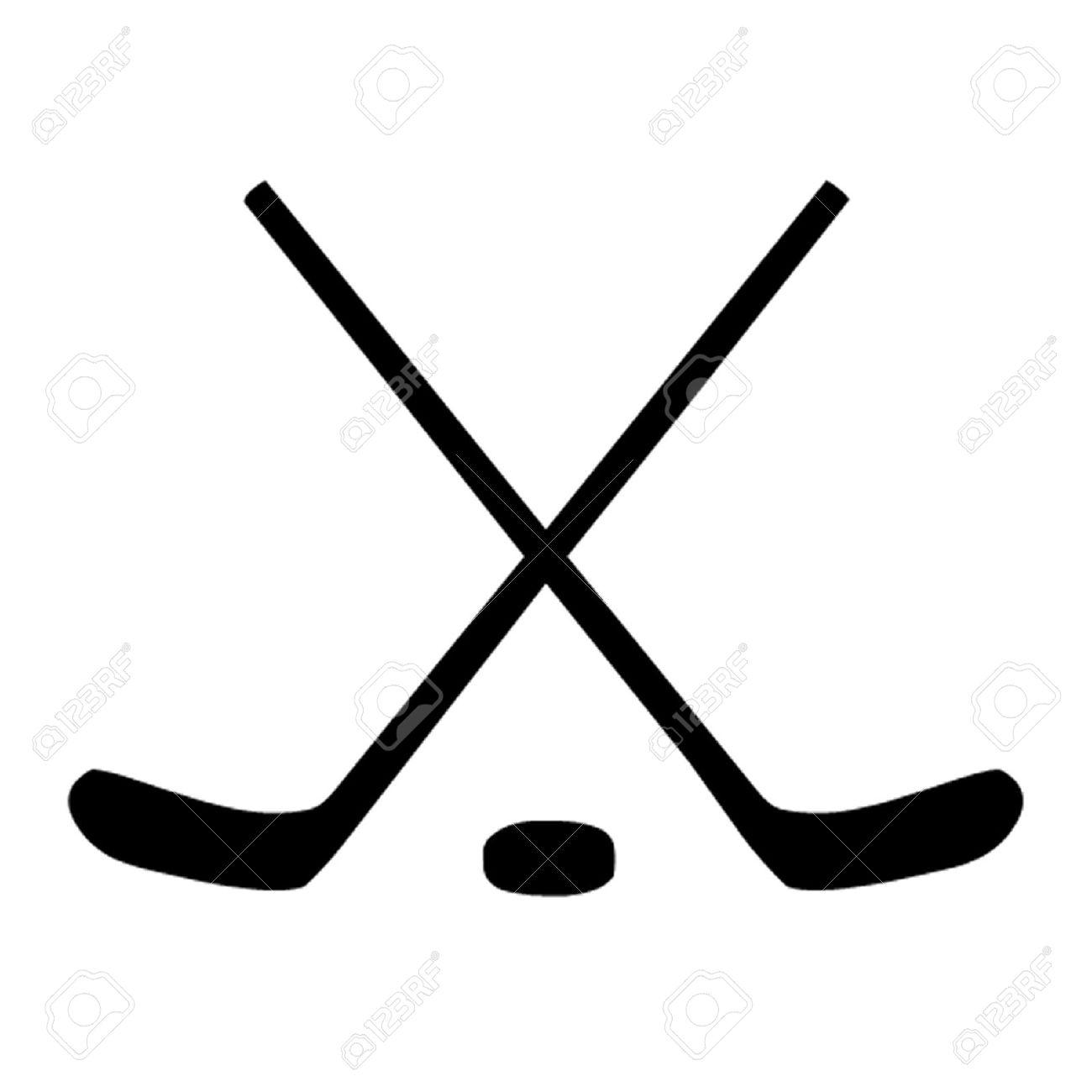 Black Hockey Stick Clipart.