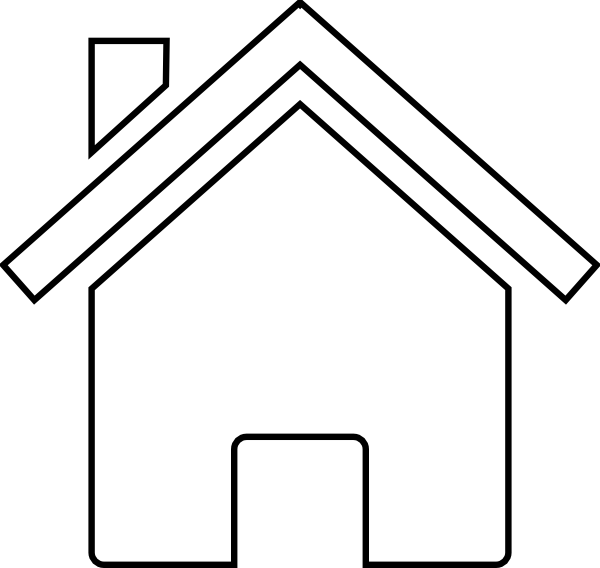 House Black And White Clip Art Black And White Home.
