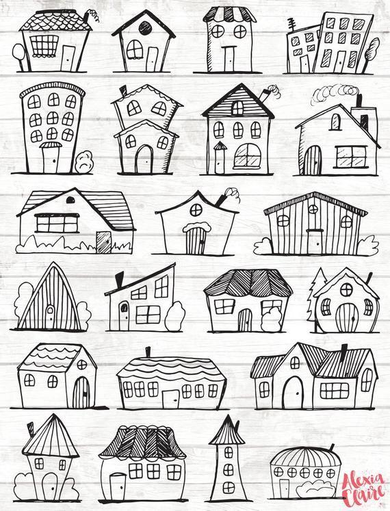 Doodle House Clipart.