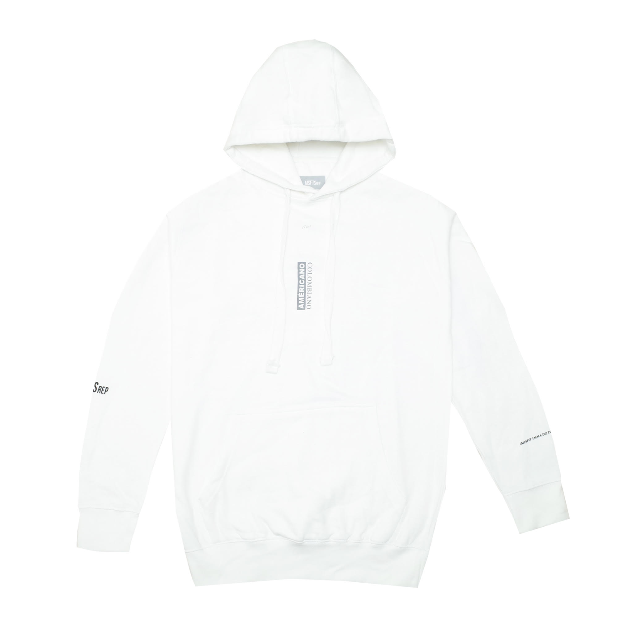 Americano Colombiano Hoodie, White.