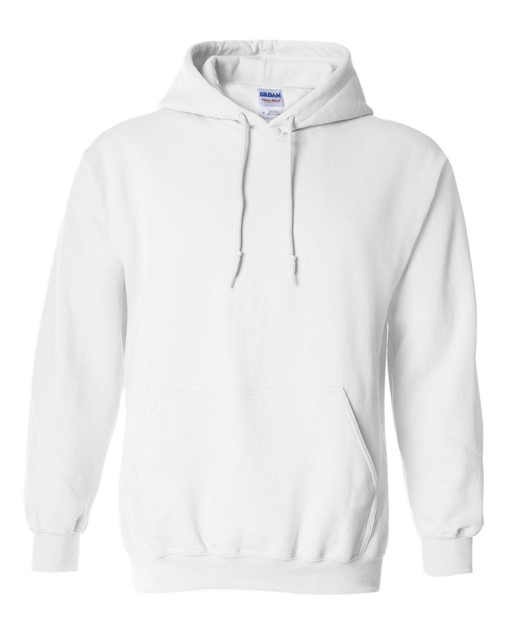 Custom Gildan Pullover Hoodie White.