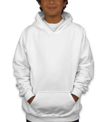 Gildan Youth Midweight 50/50 Pullover Hoodie.