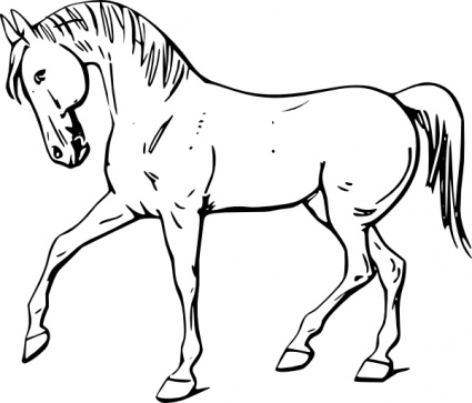 Free A Black And White Horse, Download Free Clip Art, Free.