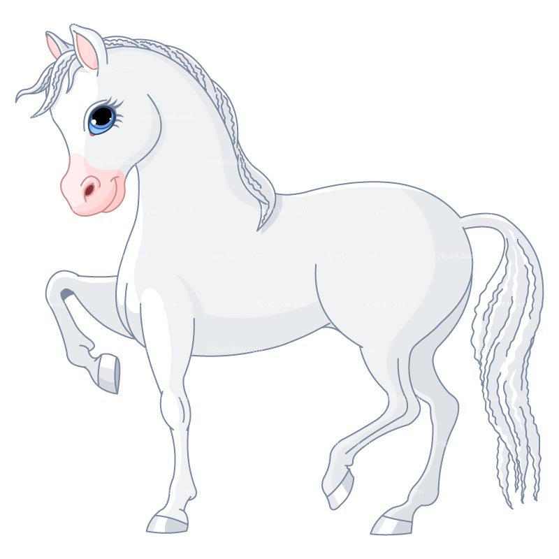 Whote horse clipart #5