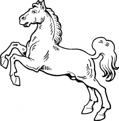 White Horse clip art.