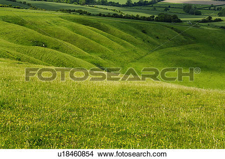 Stock Photo of England, Oxfordshire, Uffington. The Manger seen.