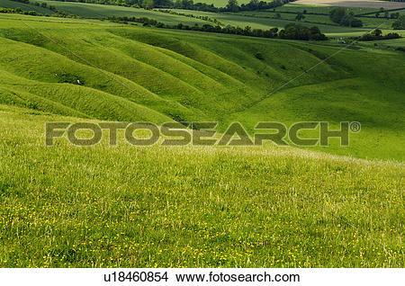 Stock Photo of England, Oxfordshire, Uffington. The Manger seen.