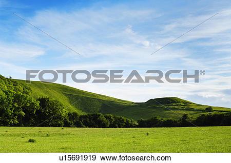 Stock Photograph of England, Oxfordshire, Uffington, Whitehorse.