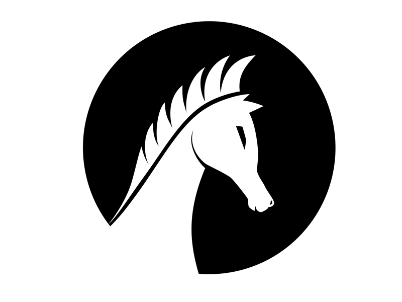 Black White Horse by Communication Agency on Dribbble.